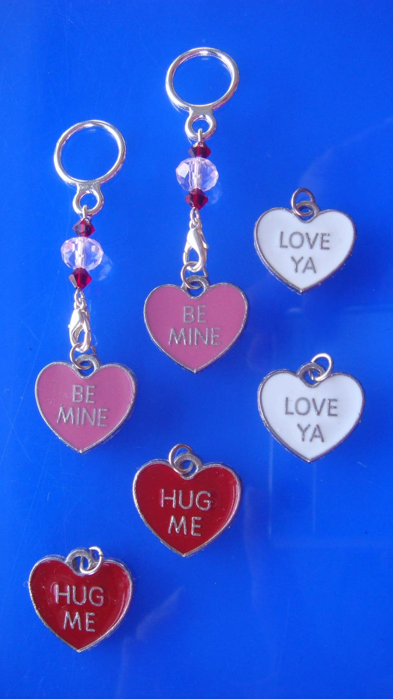 Conversation Heart Changeable Charms