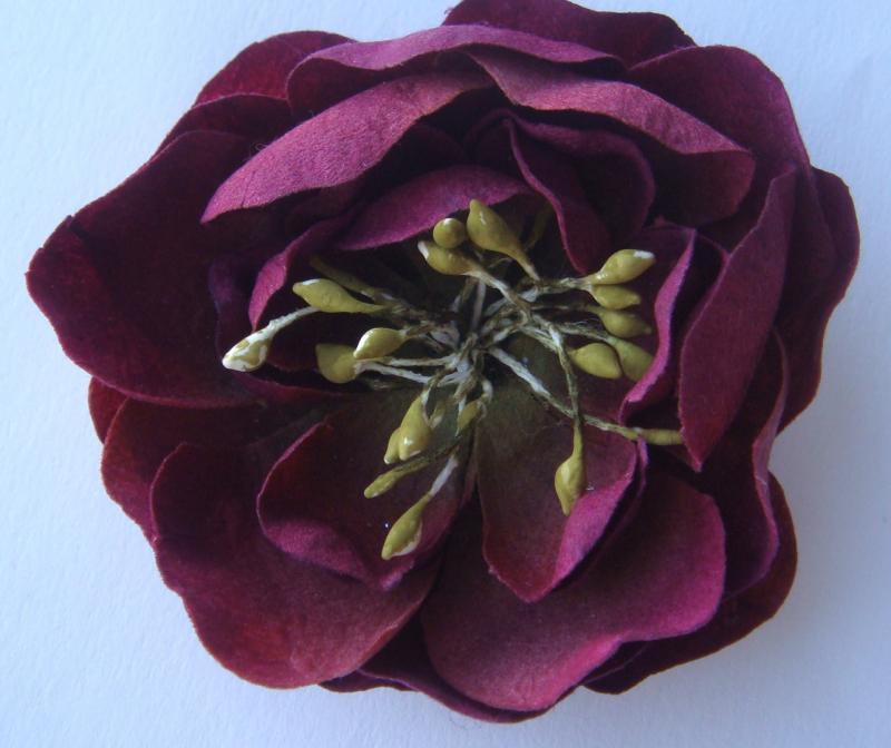 Burgundy Victorian Flower CI bling