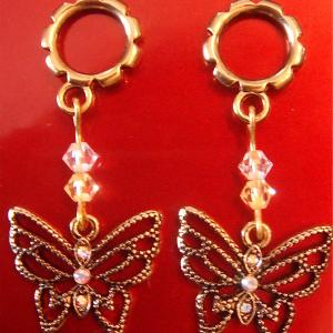 Gold and Crystal Butterfly