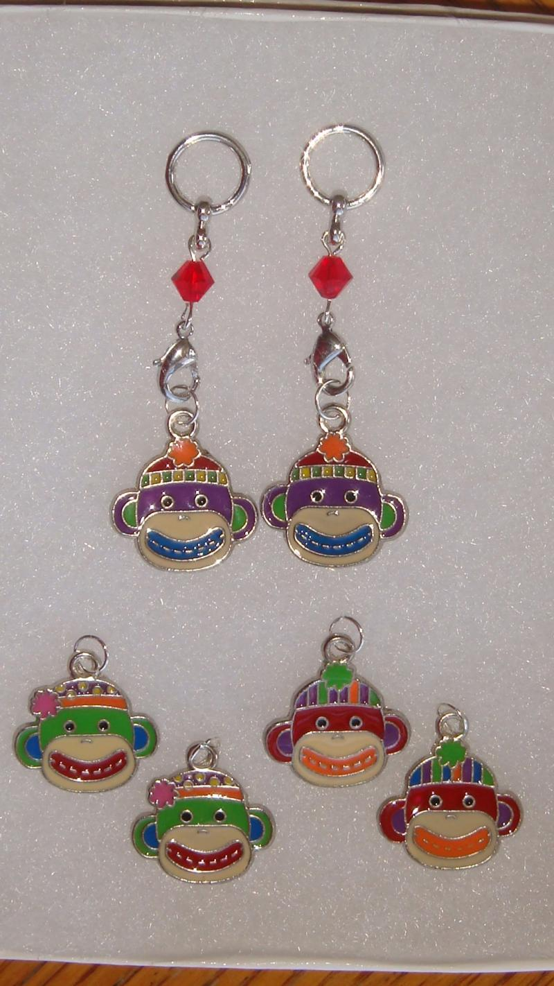 Sock Monkey Changeable Charms