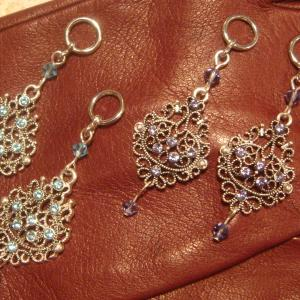 Light Blue and Purple Lace Charms