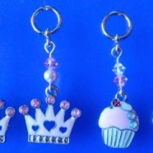 Princess Crown and Cupcake with a Strawberry on Top