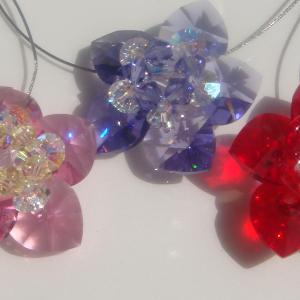 Swarovski Hearts and Flower Close-up Sets