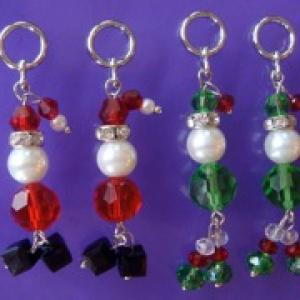 Beaded Santa and Elves